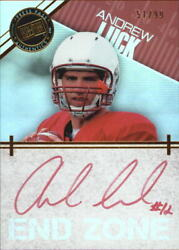 2012 Press Pass Showcase End Zone Auto Gold Red Ink Al Andrew Luck 51/99 1/1