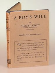 Robert Frost - A Boyand039s Will First U.s. Edition Second State In Dust Jacket