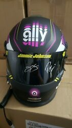 2019 Jimmie Johnson 48 Autographed Ally Financial Full Size Replica Helmet