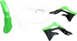 Acerbis Plastic Fender Body Kit Oe Green/white/black Kawasaki Kx450f 2013-2015