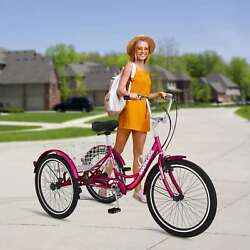 7 Speed Mountain Tricycle 24/26 Front Suspension Mtb Bike Bicycle +disc Brakes