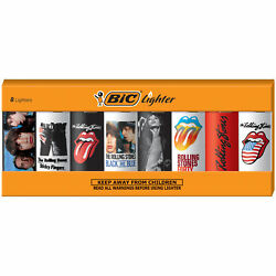 Bic Special Edition The Rolling Stones Series Lighters, Set Of 8 Lighters