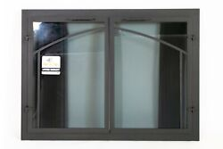 Thermo-rite Normandy Delux Fireplace Door With Window Pane Design Masonry