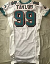 Jason Taylor Miami Dolphins 2000 Authentic Nike Team Issued White Game 99 Jersey