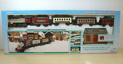 Dickensville Collectables Christmas Toy Train Station Track W/ Sound Complete