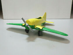 Vintage 1970's 'hubley Kiddie Toy' Yellow And Green Metal Wwii Fighter Plane
