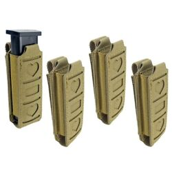 Molle Single Elastic Pistol Mag Pouch Magazine Tool Belt Bag Can Hold Flashlight