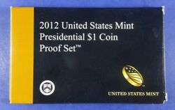 2012 Presidential Dollar Proof Set- W/ Box And Coa