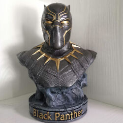 Black Panther Bust Resin 14'' Statue The Avengers 3 Figurine Collectible Model
