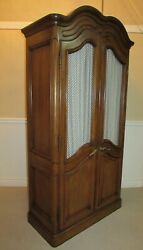 Vintage Mt Airy Armoire Wardrobe Chest Closet Quality Mesh Curtains B