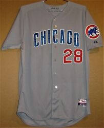 2012 Chicago Cubs Paul Maholm 28 Road Gray Button-down Size 48 Jersey