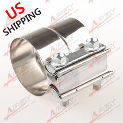 Us Ship 2 Inch Stainless Steel Exhaust Muffler Pipe Step Band Clamp Connector
