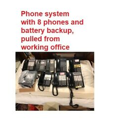 Avaya Partner Communications System With 8 Phones And Battery Backup Excellent