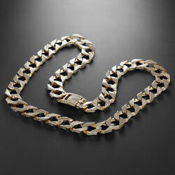 9 K Gold Heavy Patterned Curb Chain - 24 -15mm Rrp Andpound4580 - Uk Hallmark {b5_b...