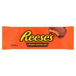 40x Reeses Peanut Butter Cups 3 Pack 51g Full Box