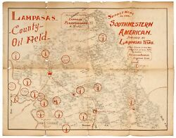 Map Lampasas County Oil Field The Last Grand Play On The Exposed 1st Ed 1920