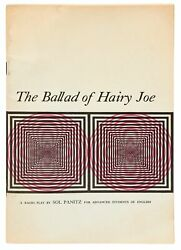 Sol Panitz / Ballad Of Hairy Joe A Radio Play For The Advanced Study Signed 1st