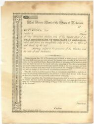 Printed Document Real Estate Bank Of The State Of Arkansas / 1840
