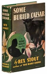 Rex Stout / Some Buried Caesar First Edition 1939