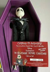 Disney Nightmare Before Christmas Jack16 Coffin Doll Hot Topic Exclusive 322