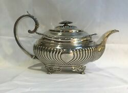 Georgian Period English Sterling Silver Teapot. London 1817. Houghan Royes Dix