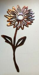 Daisy Metal Wall Art Accent Copper/bronze Plated 12 X 6