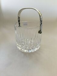 Georg Jensen Acorn Icebucket In Sterling Silver And Glass No 1137. Measures 12cm