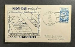 1934 Uss Palos Navy Cover To Boyertown Pa Chang China Cancel