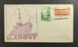 1936 Uss Parrott Navy Cover To Boyertown Pa Asiatic Station Cancel