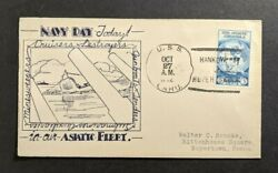 1932 Uss Oahu Navy Day Cover To Boyertown Pa Hankow Hupeh China Cancel