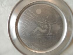 Collectible Metal Decorative Plate Salem 1892 Hand Crafted By Reed And Barton