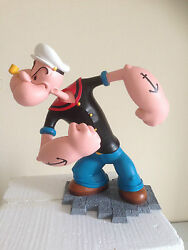 Extremely Rare Popeye Angry Big Figurine Statue