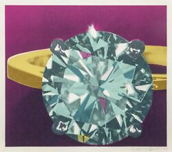 Richard Bernstein Diamond Ring Screenprint Signed And Numbered In Pencil