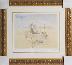 Salvador Dalí, Cosmic Horseman, Offset Lithograph, Facsimilie Signed And Numbere