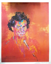Leroy Neiman Welcome Back Julio Iglesias Caesarand039s Tahoe Poster Signed In Ink