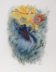 Reuven Rubin X From Visions Of The Bible Lithograph Signed And Numbered In Pe