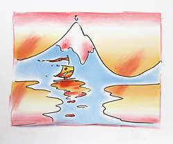 Peter Max, Himalayan Valley, Lithograph, Signed And Numbered In Pencil