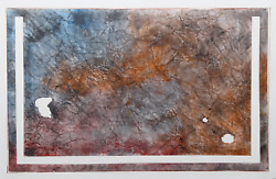Lawrence Brown, Untitled, Watercolor And Torn Paper Collage, Signed And Dated Ve