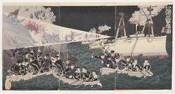 Watanabe Nobukazu The Second Army Bombarding And Occupying Port Arthur Woodblo