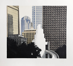 Richard Haas Dallas Skyline Etching With Aquatint Signed And Numbered In Penc