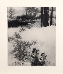 Peter Milton, Under Greylock, Intaglio Etching, Signed And Numbered In Pencil