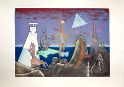 Roberto Matta 4am From Land039arc Obscur Des Heures Aquatint Etching Signed And Nu