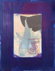 Michael David Blue From The Being Series Lithograph Signed And Numbered In Pe