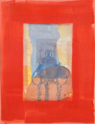 Michael David Red From The Being Series Lithograph Signed And Numbered In Pen