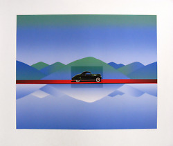 Jean-michel Folon Iand039m Writing From California Screenprint Signed And Numbered