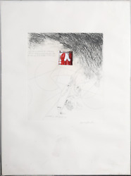 Knox Martin, Lobster Hommage To Joseph Cornell, Etching With Drypoint And Plas