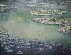 Michael Schreck Homage To Monet Acrylic On Canvas Signed L.r.