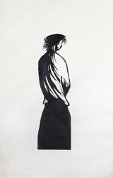 Leonard Baskin Woman And Landscape Woodcut Print On Rice Paper Signed And Num