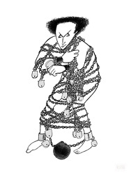 Al Hirschfeld Harry Houdini Lithograph Signed And Numbered In Pencil