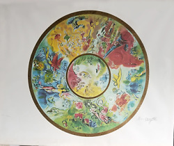 Marc Chagall Paris Opera Ceiling Lithograph Facsimile Signed And Numbered In